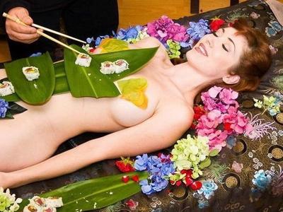 高清组图窥探日本女体盛